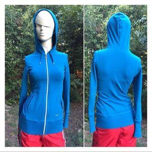 Nike Turquoise Fit Dry Full Zip Hoodie